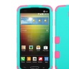 Insten Teal Green/Pink Hybrid Hard Cover Case For LG Lucid 3 VS876