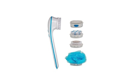 Long Handle Rotary the Multi-Function Body Bath Brush - 5 Attachments