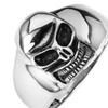Stainless Steel Smiling Skull Ring SSR58
