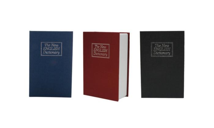 Cute Simulation English Dictionary Style Mini Safety Storage Box
