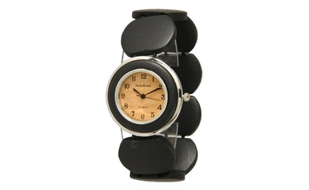 Women's Wooden Chic Watch with Handcrafted Maple & Sandalwood Band