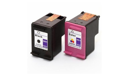 Compatible HP 74/75 (Black/Tri-Color) Ink Cartridges Combo Set Pack