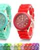 Geneva Multi Color Silicon Bracelet Watch, LOT of 12 PCS Assorted