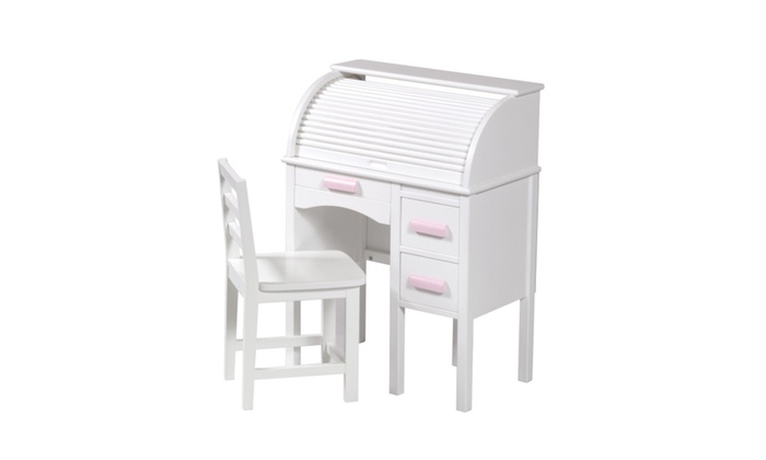 Up To 35 Off On Jr Roll Top Desk White Groupon Goods
