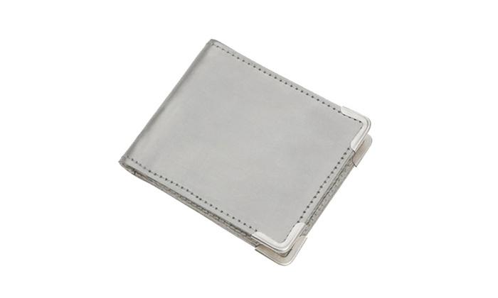 Unisex Stainless Steel Metallic RFID Card Protector Wallet