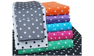 Superior 600 Thread Count Cotton Blend Polka Dot Pattern Sheet Set at Groupon Goods, plus 6.0% Cash Back from Ebates.