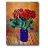 David Lloyd Glover Tulips in Blue Glass Canvas Print