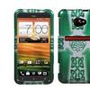 Insten White Celtic Cross Ring, 2D Silver Phone Case for HTC EVO LTE