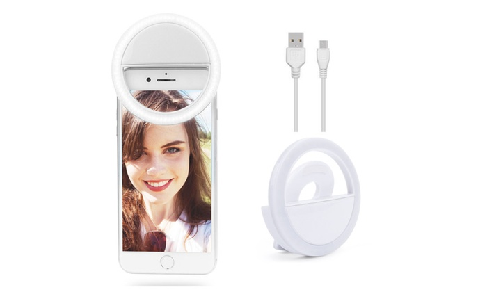 Bright Led Rechargeable Selfie Ring Fill Light Fr All Cell