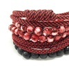 Vallour Assorted 4 Pack of Bracelets in Black and Red