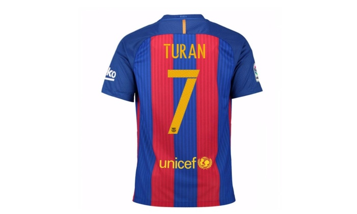 pretty nice ebc94 277ea Mens Fc Barcelona Stadium Jersey-Sport Royal Turan No.7