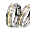 COI Jewelry Titanium Ring With Yellow Gold Plating - JT1249