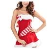 Women's Lingerie Tube Top Christmas Performance Fur Dress