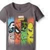 Marvel Toddler Men Comics Super Heroes Face Panel Men T-Shirt