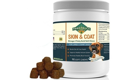 Natural Omega 3 Fish Oil for Dogs Supplement Soft Chew with Omega-3 Fatty Acids