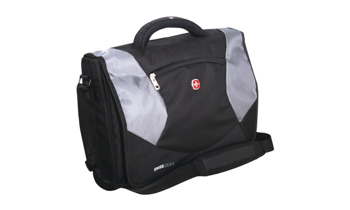 Wenger Swiss Army Laptop Breif Messenger Bag Sa1010 Black Grey