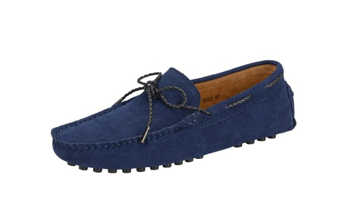 Men's Lace Up Driving Moccasin Slipper Loafer