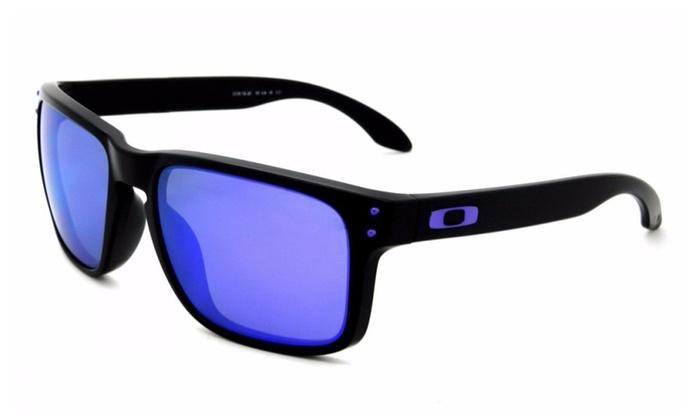 1d50ba4cf4a Oakley Holbrook Julian Wilson OO9102-26 Matte Black   Violet Iridium ...