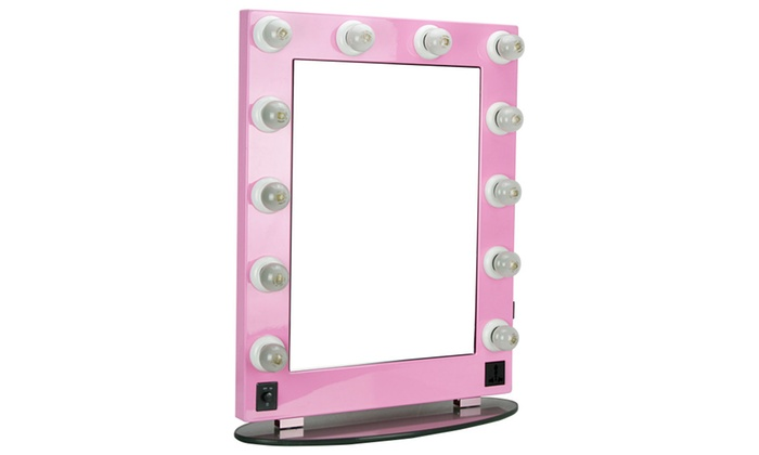 Jcpenney Vanity Lights : HIKER Lighted Vanity Mirror in Pink Glossy, Dimmer-HKL4301PCPK Groupon