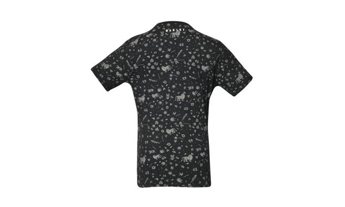 571d6c9b91f Bob Marley Symbols Black T-shirt