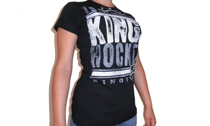 info for 7bdd4 e2d00 GIII Los Angeles KINGS WOMENS 4HER T SHIRT LICENSED NHL jersey CHAMPIONS