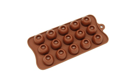 Freshware 15-Cavity Silicone Round Chocolate, Candy and Gummy Mold a259d02c-eb20-492d-9f26-16552a7c1df6