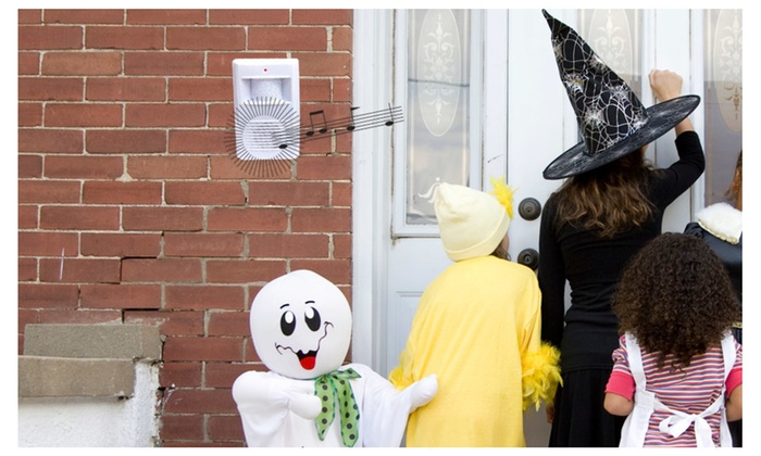 Buy It Now : Visitor Chime Alarm-Wireless Motion Activated, (Perfect for Halloween Trick or Treat)