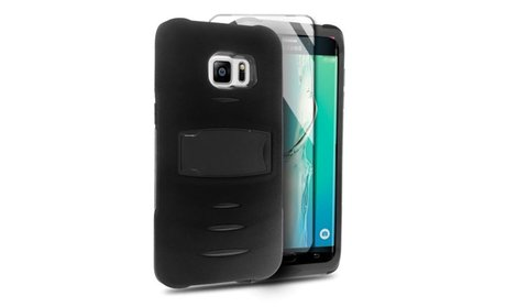 Armor Hybrid Protective Case with Stand For Samsung Galaxy S6 Edge...