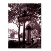 Kathy Yates Paris Metro and Kiosk 2 Canvas Print