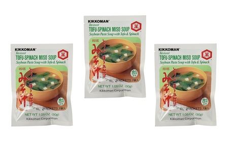 Kikkoman Instant Tofu-Spinach Miso Soup Mix (9 Pockets in 3 Bags) ceacd944-28a4-4fff-8c4a-a9c2117d0d43