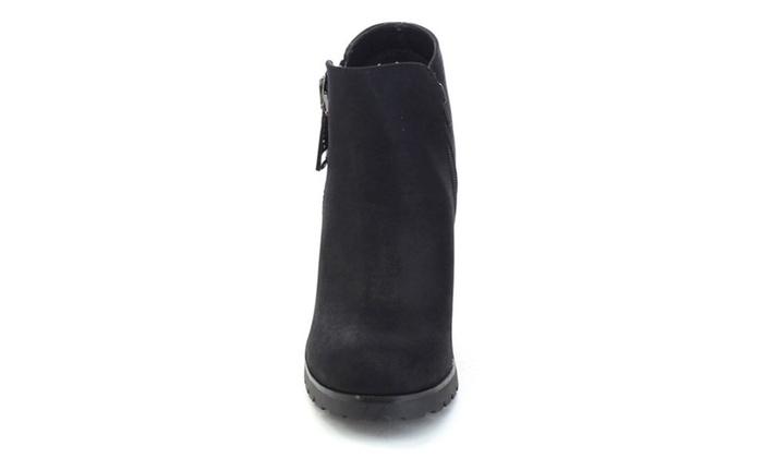 f7eab2b6c392e Soda Daily-s Women's Chunky Heel Bold Zipper Comfort Ankle Booties ...