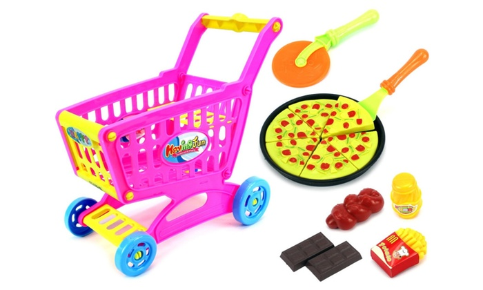 Happy Cutting 'Pizza' Shopping Cart Children's Kid's Toy ...