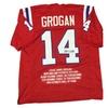 Steve Grogan Autographed Custom Jersey (MAB - SGRJER5)