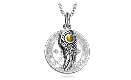 Archangel Thavael Sigil Amulet Magic Powers Angel Wing Charm Pendant Necklace