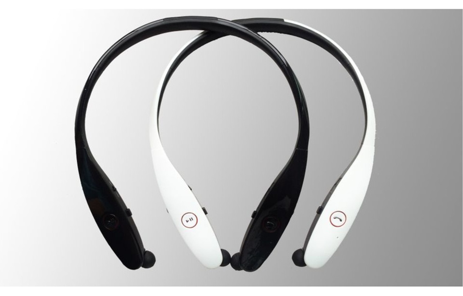 Retractable Neckband Wireless Headphones for all Smartphones