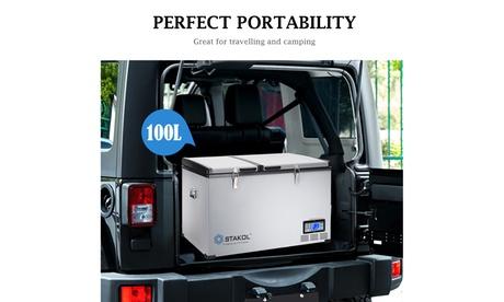 105-Quart Portable Electric Car Freezer/ Refrigerator Cooler Compressor Camping