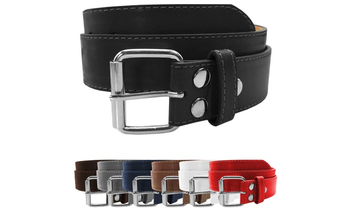 Premium Quality Bonded Leather Stitch Snap Belts