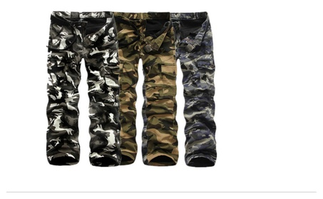 Men's Thick Warm Camouflage Cargo Pants With Pocket Overalls 35b52e8e-8eac-40a4-a0c2-c8abbc9bb6c3
