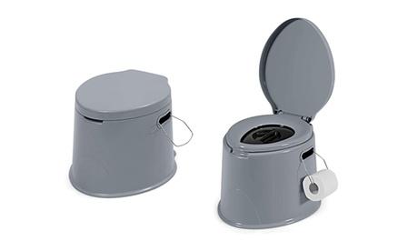 Portable Travel Toilet w/ Detachable Inner Bucket & Toilet Paper Holder