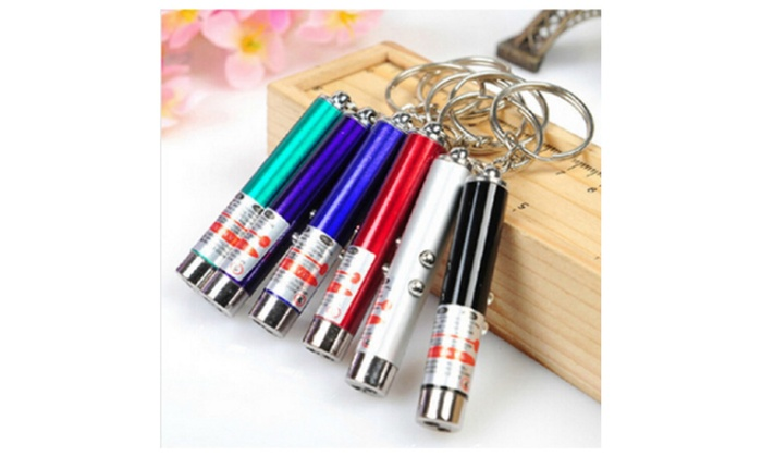 New Cool 2 In1 Red Laser Pointer Pen With White LED Light