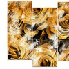 Yellow Rose Garden - Floral Metal Wall Art