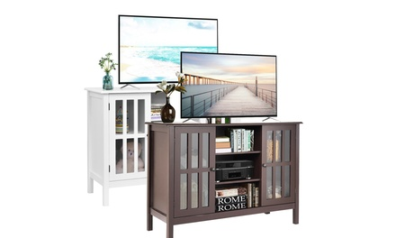 """Costway Wood TV Stand Storage Console Free Standing Cabinet Holds Up To A 45"""" TV"""