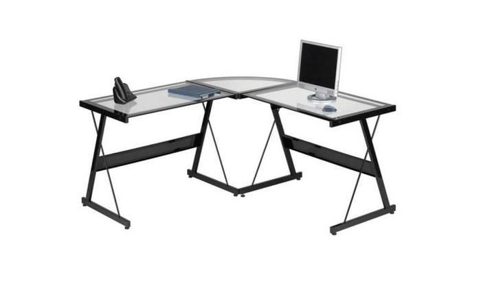 ... Santorini L Shaped Computer Desk, Multiple Colors ...
