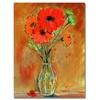 Sheila Golden Daisy Vase Canvas Print