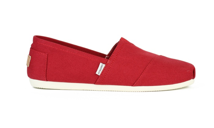 Joy & Mario Men Red Slip-on Canvas Espadrille Flat Shoes