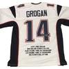Steve Grogan Autographed Custom Jersey (MAB - SGRJER6)