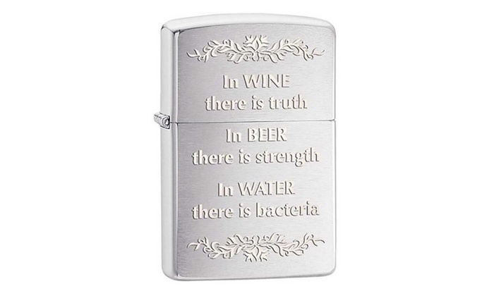 Zippo In Wine There Is Truth Lighter 28647