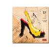 Roderick Stevens Suede Heel Yellow Canvas Print