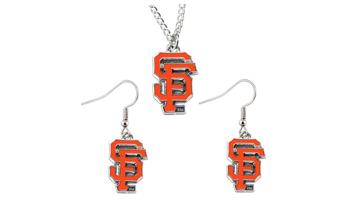 NFL Sports Team Necklace and Dangle Earring Charm Set