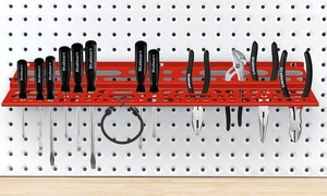 "Stalwart Wall-Mount 24"" Multi-Level Tool Storage Shelf"